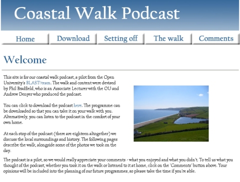 Coastal Walk Podcast